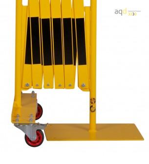 Set de barreras extensibles 2 x 2 m, color amarillo-negro - Sets de barreras extensibles,