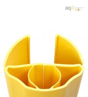 """Protección flexible """"Alfa"""": 1000 mm (alt) para estanterías de 100-125 mm (anch.) - Protección de estantes """"Alfa"""","""