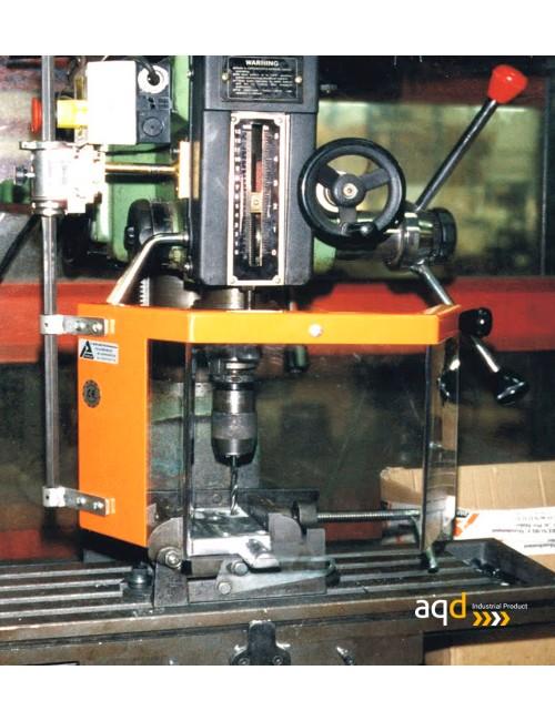 Protección para taladros radiales / fresadoras con seguridad eléctrica