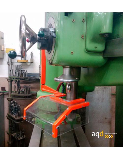 Protección para taladros radiales sin seguridad eléctrica