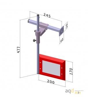 Protección para taladros verticales de sobremesa y de columna, cuotas