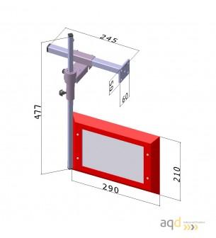 Protección de 300x200 mm para taladros verticales de sobremesa y de columna
