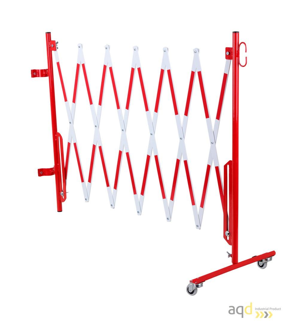 Kit de barrera extensible hasta 3,6 m, en rojo/blanco, para poste de Ø 60 mm - Kit de barreras extensibles,