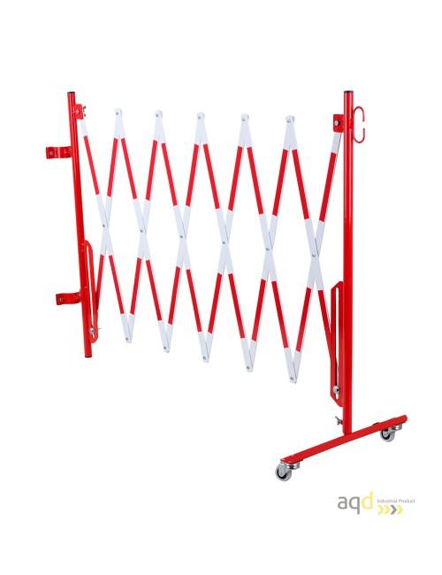 Kit de barrera extensible hasta 3,6 m, en rojo/blanco, para poste de Ø 60 mm
