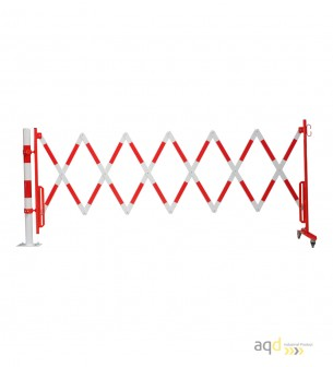 Kit de barrera extensible hasta 4 m, en rojo/blanco, para poste de Ø 60 mm - Kit de barreras extensibles,