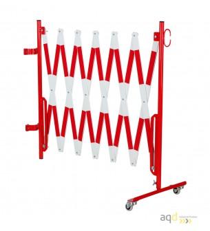 Kit de barrera extensible hasta 4 m, en rojo/blanco, para poste de Ø 60 mm - Kit de barreras extensibles,
