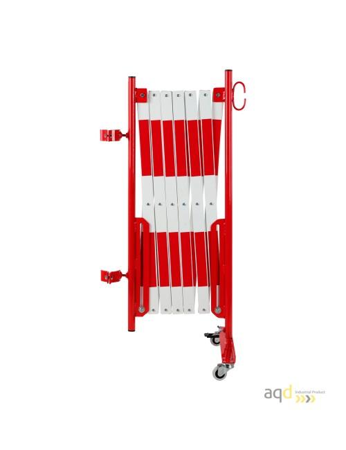 Kit de barrera extensible hasta 4 m, en rojo/blanco, para poste de Ø 60 mm