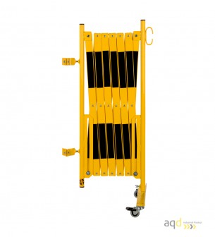 Kit de barrera extensible hasta 4 m, en amarillo/negro, para poste de Ø 60 mm - Kit de barreras extensibles,