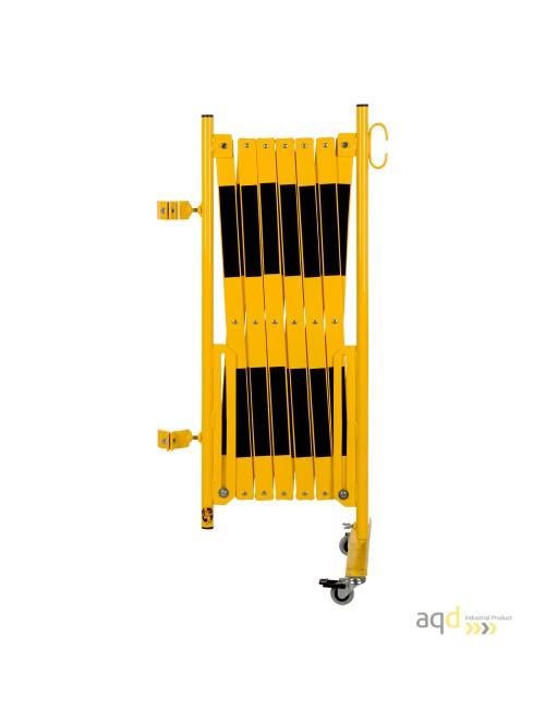 Kit de barrera extensible hasta 4 m, en amarillo/negro, para poste de Ø 60 mm