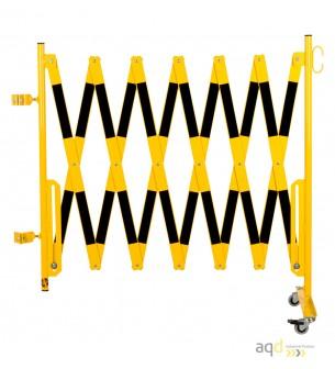 Kit de barrera extensible hasta 4 m, en amarillo/negro, para poste de Ø 60 mm - Kit de barreras extensibles,
