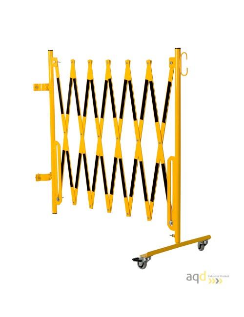 Kit de barrera extensible hasta 3,6 m, en amarillo/negro, para poste de Ø 60 mm
