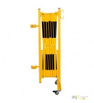 Kit de barrera extensible hasta 3,6 m, en amarillo/negro, para poste de Ø 60 mm - Kit de barreras extensibles,