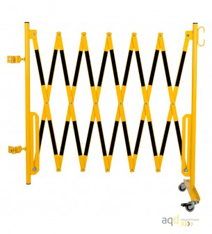 Kit de barrera extensible hasta 3,6 m, en amarillo/negro, para poste de Ø 60 mm - Kit de barreras extensibles,