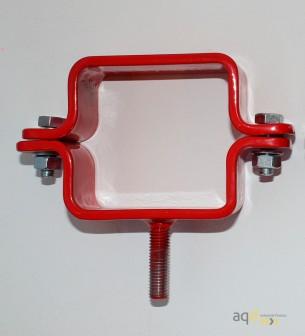 Kit de barrera extensible hasta 3,6 m, en rojo/blanco, para poste cuadrado de 70x70mm - Kit de barreras extensibles,