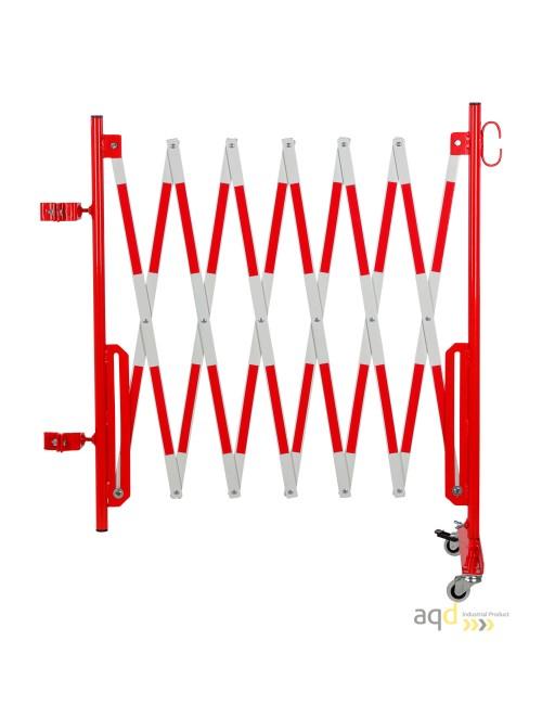 Kit de barrera extensible hasta 3,6 m, en rojo/blanco, para poste cuadrado de 70x70mm