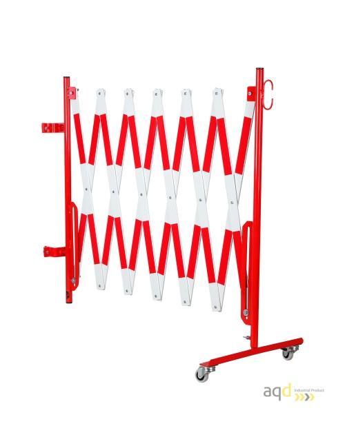 Kit de barrera extensible hasta 4 m, en rojo/blanco, para poste cuadrado de 70x70mm