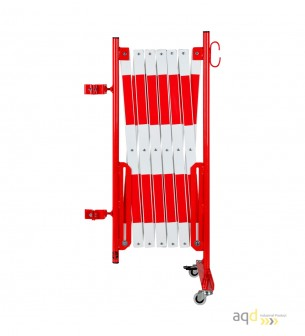 Kit de barrera extensible hasta 4 m, en rojo/blanco, para poste cuadrado de 70x70mm - Kit de barreras extensibles,