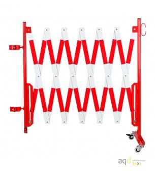 Kit de barrera extensible hasta 4 m, en rojo/blanco, para poste cuadrado de 70x70mm - Kit de barreras extensibles,