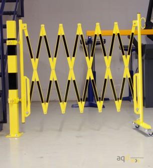 Kit de barrera extensible hasta 3,6 m, en amarillo/negro, para poste cuadrado de 70x70mm - Kit de barreras extensibles,