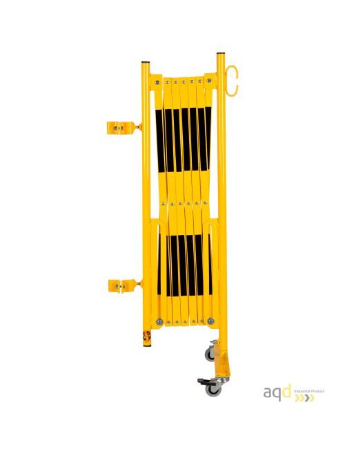 Kit de barrera extensible hasta 3,6 m, en amarillo/negro, para poste cuadrado de 70x70mm