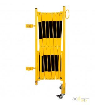 Kit de barrera extensible hasta 4 m, en amarillo/negro, para poste cuadrado de 70x70mm - Kit de barreras extensibles,