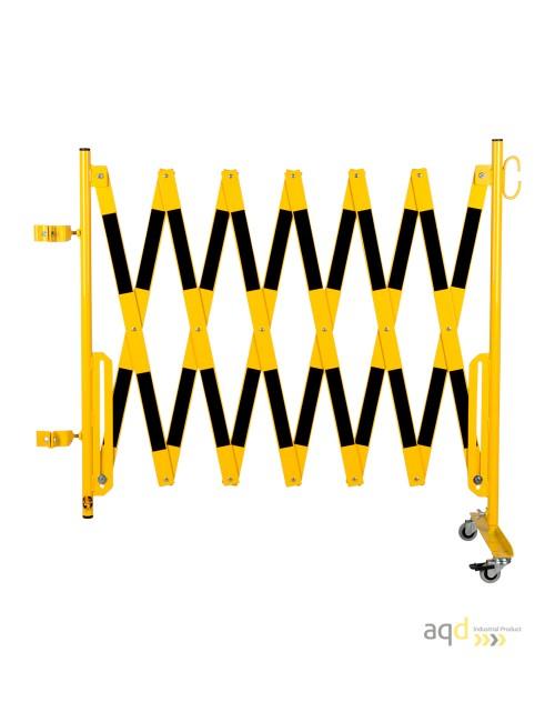 Kit de barrera extensible hasta 4 m, en amarillo/negro, para poste cuadrado de 70x70mm
