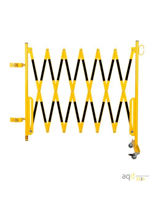 Kit de barrera extensible hasta 3,6 m, en amarillo/negro, para poste cuadrado de 100 x 100 mm