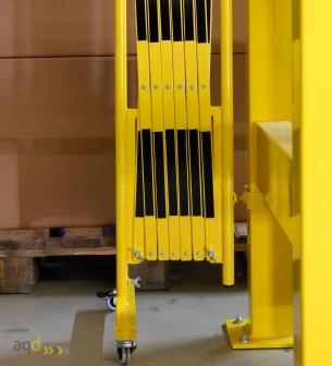 Kit de barrera extensible hasta 3,6 m, en amarillo/negro, para poste cuadrado de 100 x 100 mm - Kit de barreras extensibles,
