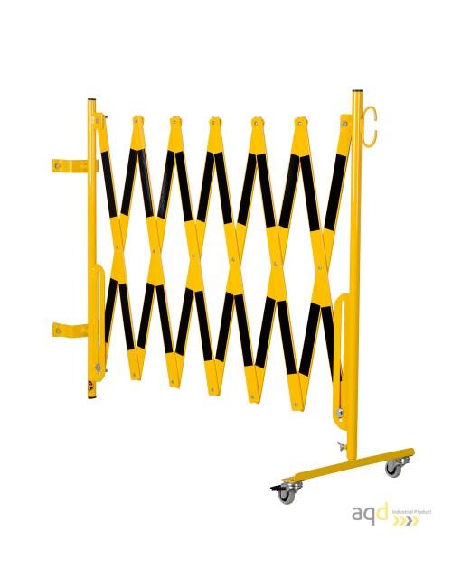 Kit de barrera extensible hasta 4 m, en amarillo/negro, para poste cuadrado de 100 x 100 mm