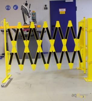 Kit de barrera extensible hasta 4 m, en amarillo/negro, para poste cuadrado de 100 x 100 mm - Kit de barreras extensibles,