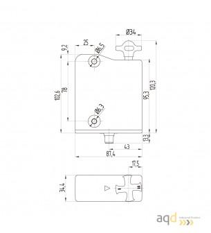 Interruptor AZM 300 - desbloqueo por tensión - AZM 300 Interruptor de seguridad con bloqueo por solenoide