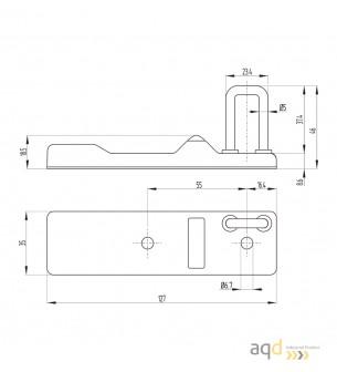 Actuador recto para interruptor AZM 300 - AZM 300 Interruptor de seguridad con bloqueo por solenoide