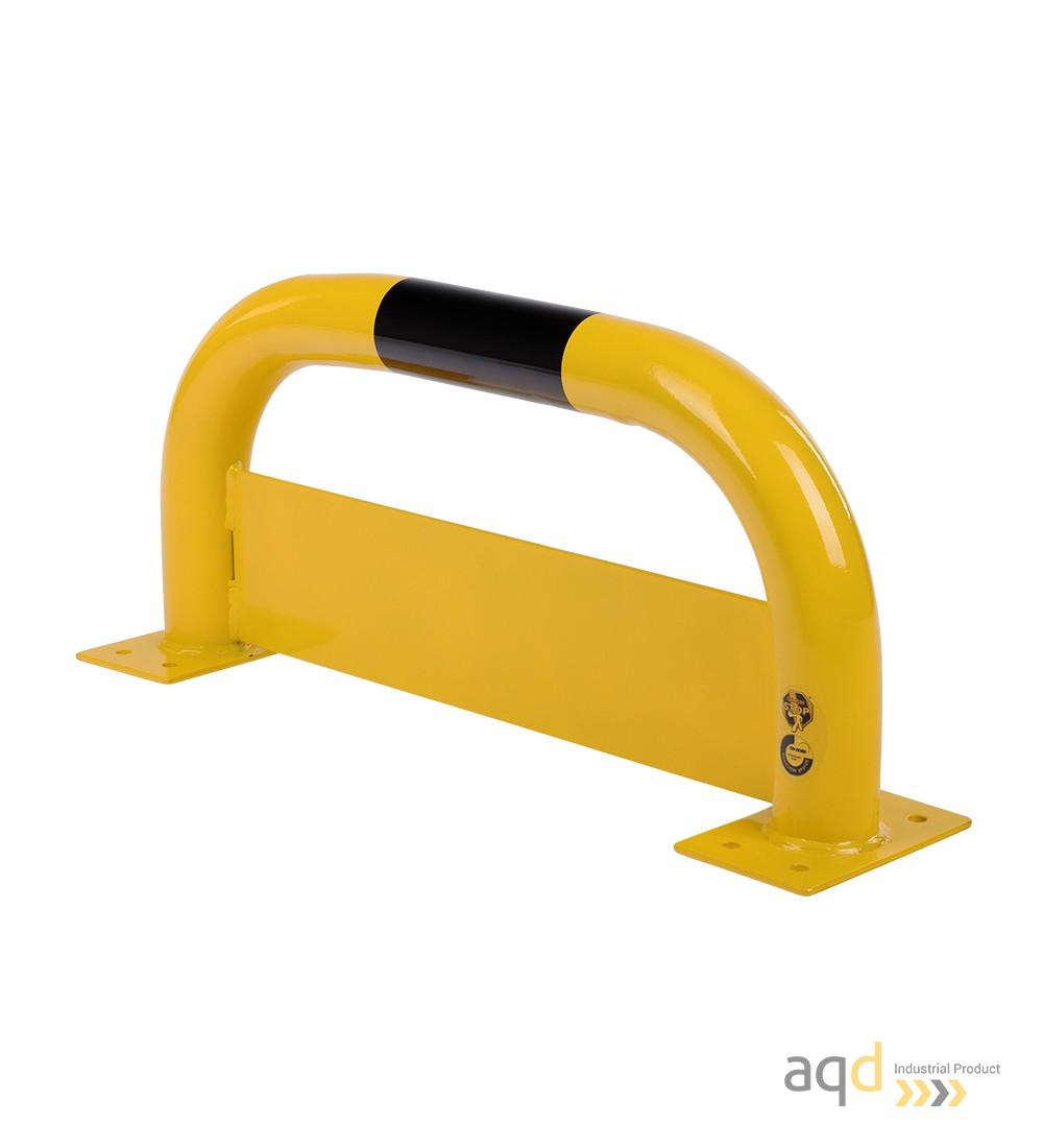 Protección puente de acero con rodapiés, 350 mm (alt.) x 750 mm (anch.) - Protección puente de acero con rodapiés