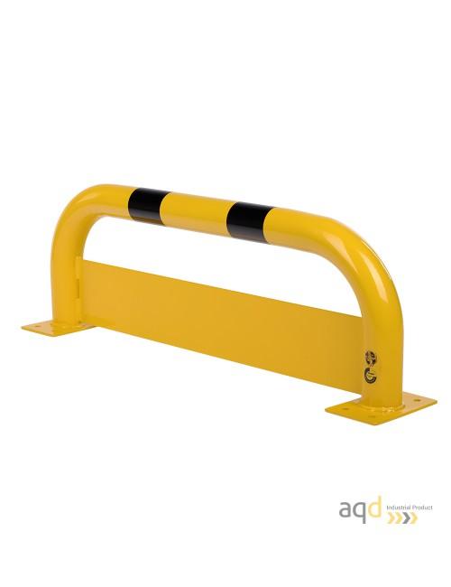 Protección puente de acero con rodapiés, 350 mm (alt.) x 1000 mm (anch.)