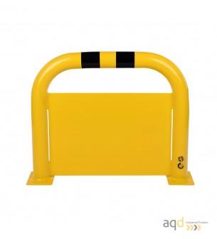Protección puente de acero con rodapiés, 600 mm (alt.) x 750 mm (anch.) - Protección puente de acero con rodapiés