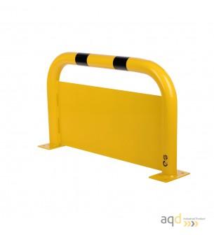 Protección puente de acero con rodapiés, 600 mm (alt.) x 1000 mm (anch.) - Protección puente de acero con rodapiés