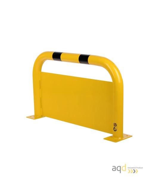 Protección puente de acero con rodapiés, 600 mm (alt.) x 1000 mm (anch.)
