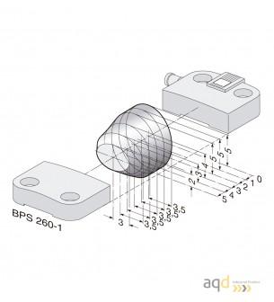 Schmersal Actuador para sensor magnético BPS 260-1 - Schmersal Interruptor magnético de Seguridad BNS 260