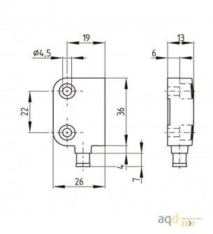 Sensor magnético de Seguridad BNS 260 - Interruptor magnético de Seguridad BNS 260