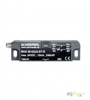 Sensor magnético de seguridad BNS 36-02Z-R - Interruptor magnético BNS 36 con actuador por separado BPS 36