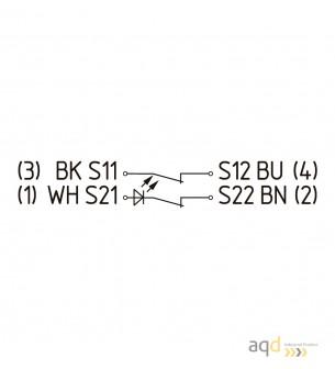 Schmersal Sensor magnético de seguridad BNS 36-02Z-R - Schmersal Interruptor magnético BNS 36 con actuador por separado BPS 36