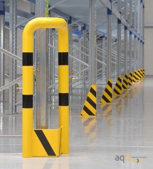 Protección esquinera de acero con rodapiés, 300 mm (anch.) - Protección esquinera de acero con rodapiés