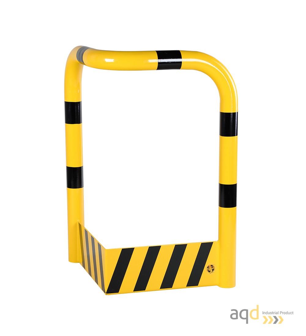 Protección esquinera de acero con rodapiés, 600 mm (anch.) - Protección esquinera de acero con rodapiés
