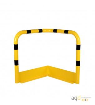 Protección esquinera de acero con rodapiés, 900 mm (anch.) - Protección esquinera de acero con rodapiés