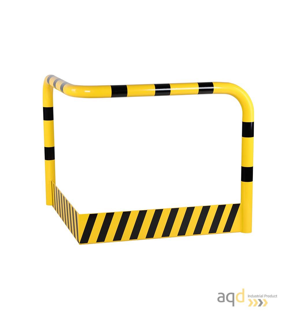 Protección esquinera de acero con rodapiés, 1200 mm (anch.) - Protección esquinera de acero con rodapiés
