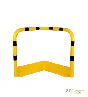 Protección esquinera de acero galvanizado con rodapiés, 900 mm (anch.) - Protección esquinera de acero galvanizado con rodapiés