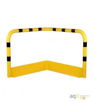 Protección esquinera de acero galvanizado con rodapiés, 1200 mm (anch.) - Protección esquinera de acero galvanizado con rodapiés