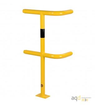 Poste esquinero, 1000 mm (alt.), 250-500 mm (anch.) para barandilla de seguridad modular de acero - Barandilla de seguridad m...