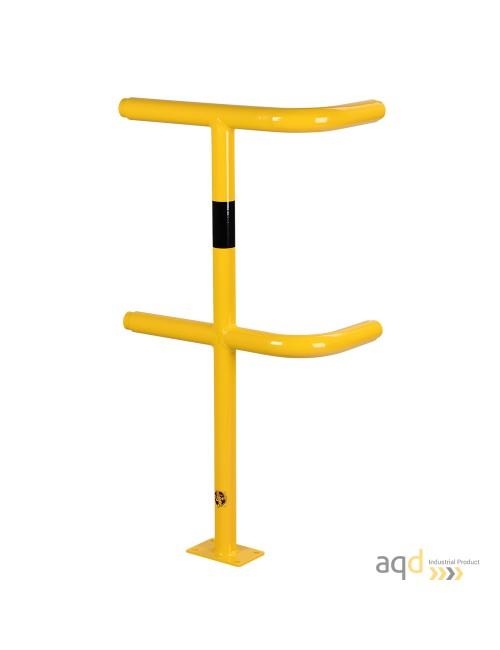 Poste esquinero, 1000 mm (alt.), 250-500 mm (anch.) para barandilla de seguridad modular de acero
