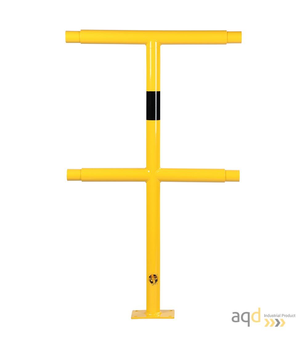 Poste medio, 1000 mm (alt.), 500 mm (anch.) para barandilla de seguridad modular de acero - Barandilla de seguridad modular d...